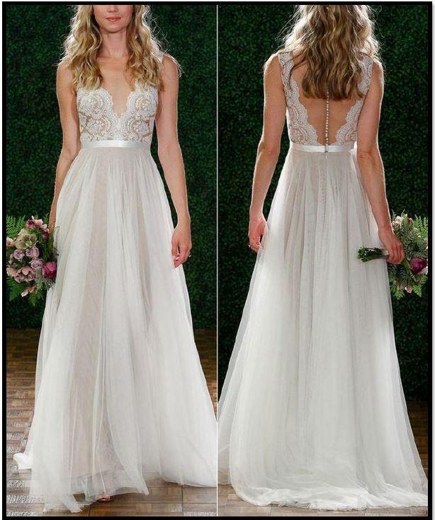 A Line Wedding Dress On 74 Off