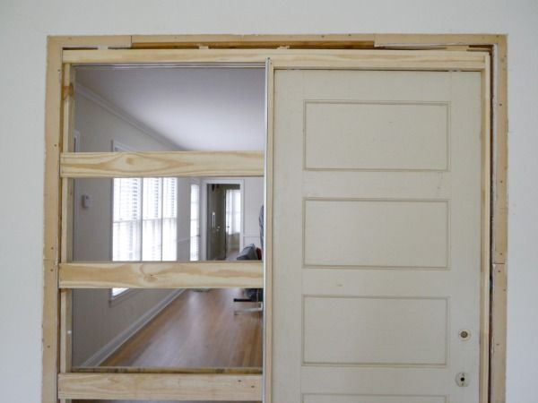 Single Pocket Doors Glass how to build a pocket door | pocket doors, doors and sliding door
