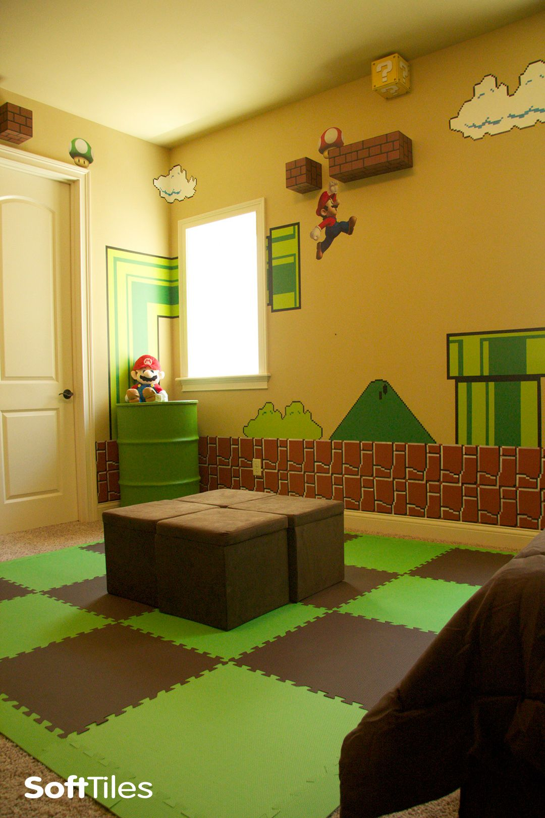 Super Mario Themed Bedroom Children S