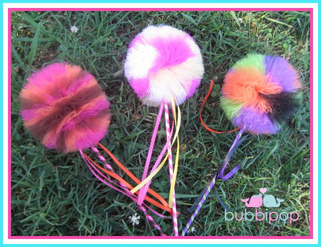 Custom Boutique Princess Fairy Puff Wand PERFECT for Birthday Parties Dressup and Halloween SALE