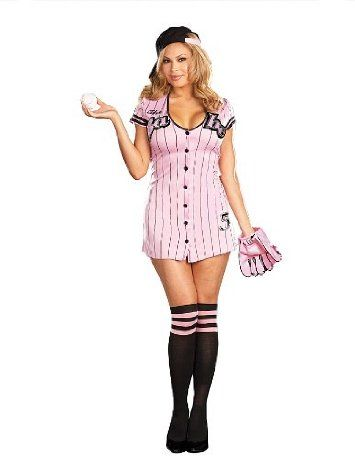 click image above to purchase sexy babe baseball plus size costume sexy costumes - Baseball Halloween Costume For Girls