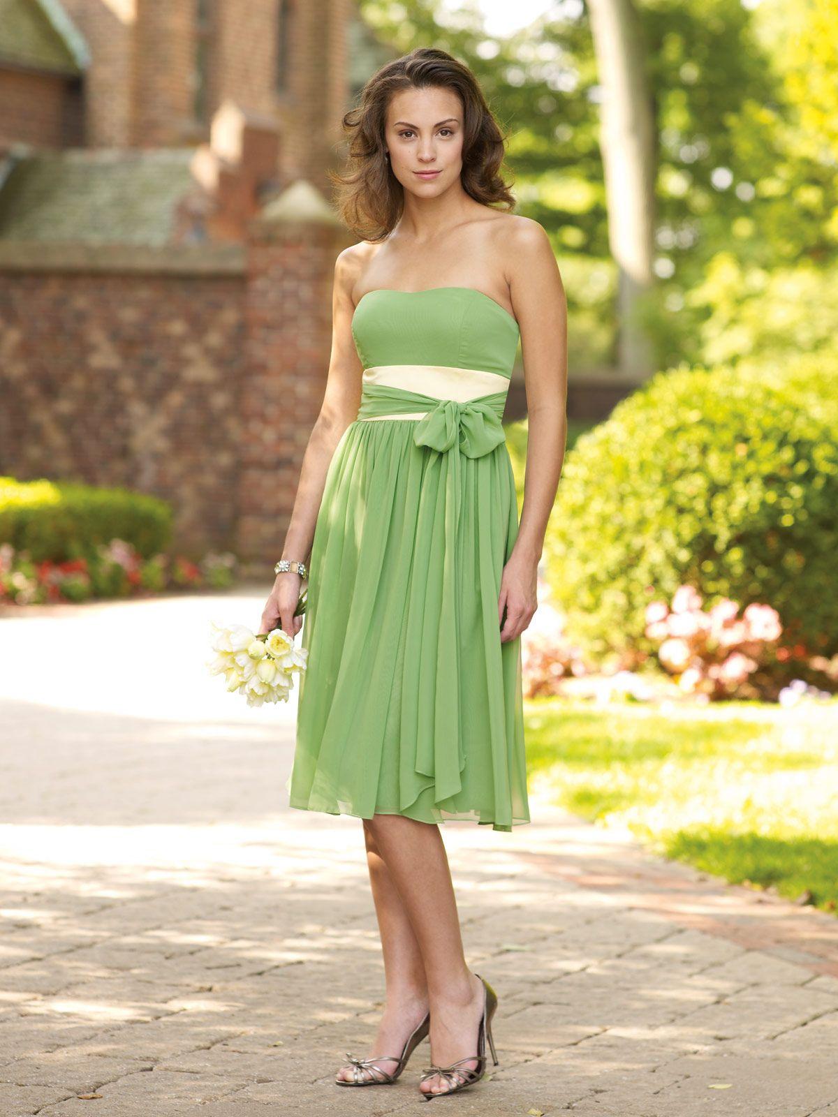 Bridesmaids Green bridesmaid dresses, Dresses, Tea