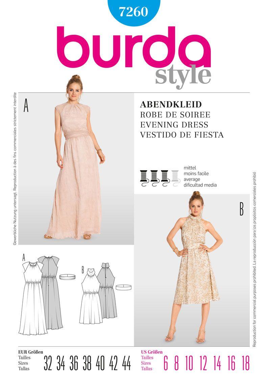 Burda 7260 from burda patterns is a evening dress sewing pattern burda 7260 from burda patterns is a evening dress sewing pattern jeuxipadfo Choice Image