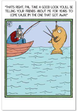 Funny Fishing Birthday Cards