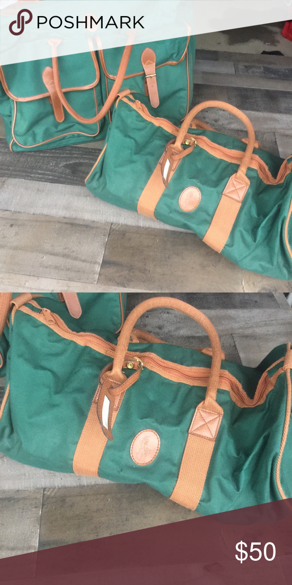 4872ece82b5a ... best vintage ralph lauren polo green luggage both pieces in good  condition. no holes rips