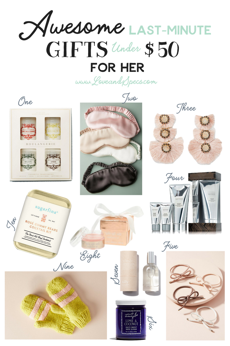 dec 19 awesome last-minute gifts under $50 for her | holiday