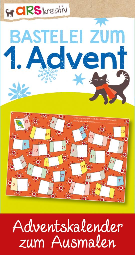 Tolle Bastelei zum 1. Advent: ein Adventskalender zum ...