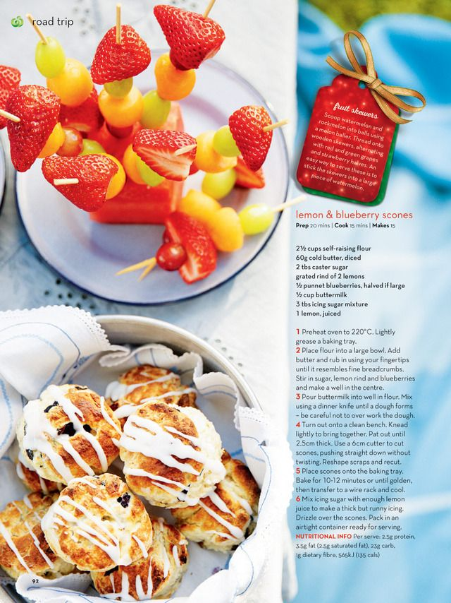 Fresh Magazine Woolworths Blueberry Scones Lemon Blueberry Cookery