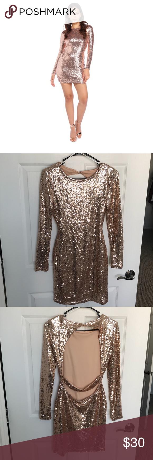 Windsor ucrose gold sequin bar dressud worn once for party usual wear