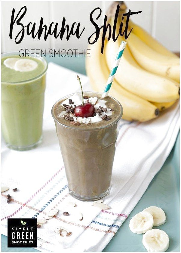 Blend up this sweet smoothie and watch your kiddos sip up some leafy green goodness without even knowing it! Top this yummy chocolate banana smoothie with a spoonful of coconut whipped cream and place a cherry on top for a fun healthy treat I  #HealthySmoothiesForKids click now for more. #chocolatebananasmoothie