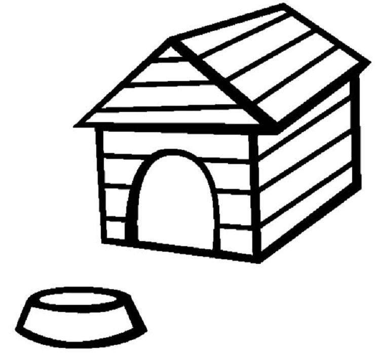 Dog House Coloring Pages In 2019 House Colouring Pages Coloring