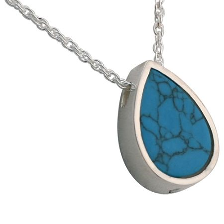 Turquoise teardrop pendant for ashes pinterest turquoise teardrop slider pendant and necklace for ashes remembrance jewelry for ashes aloadofball Choice Image