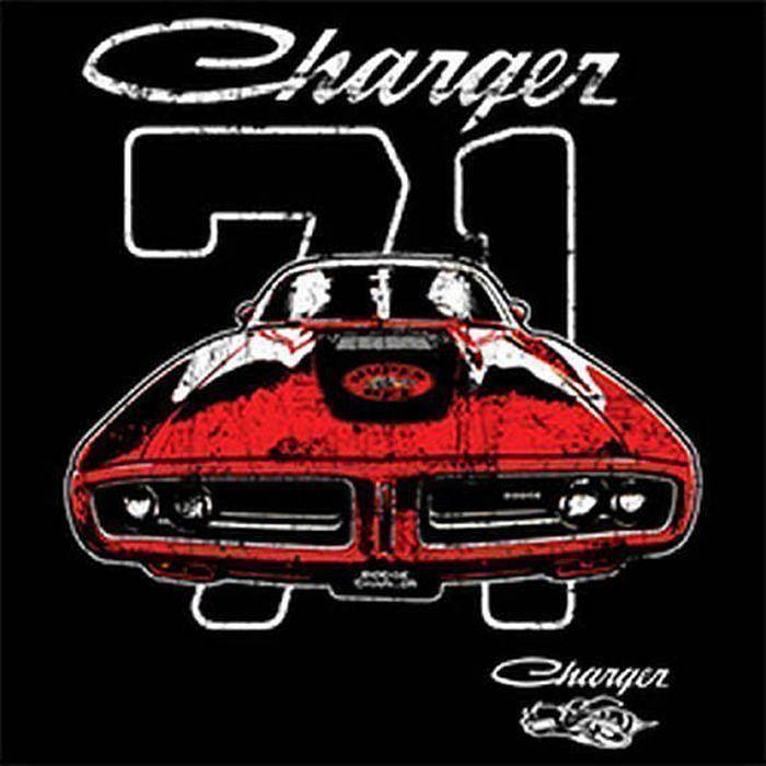 Vintage 1971 Dodge Charger Car Adult Unisex LONG SLEEVE T