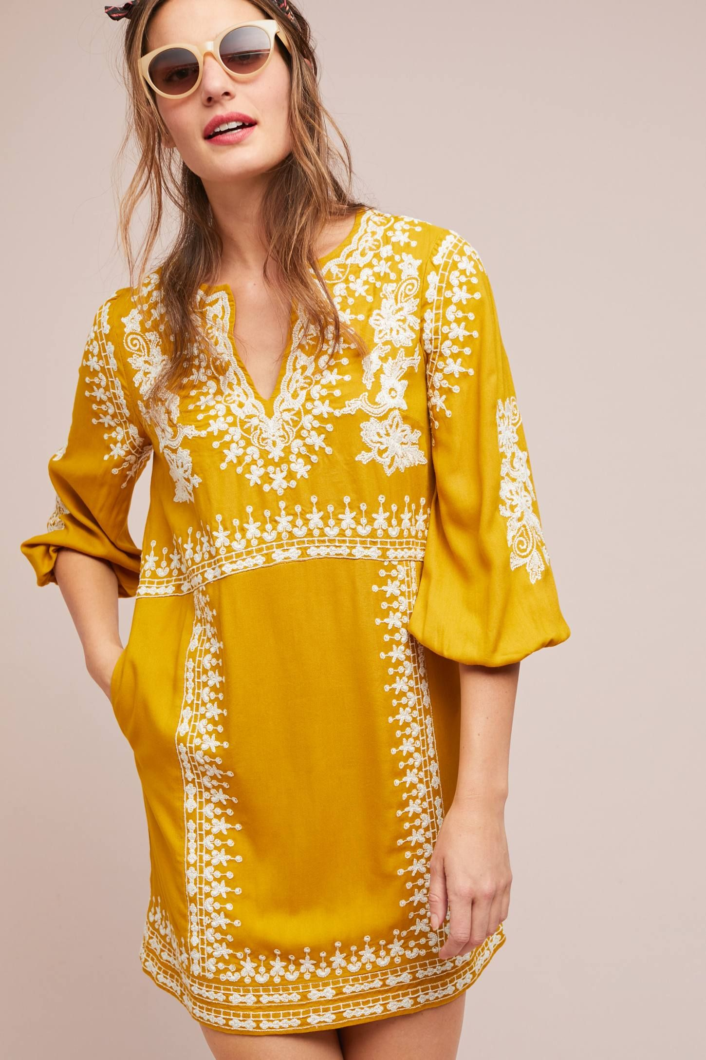 Shiloh Embroidered Tunic Dress Embroidered Tunic Dress Summer Tunic Dress Embroidered Tunic [ 2175 x 1450 Pixel ]