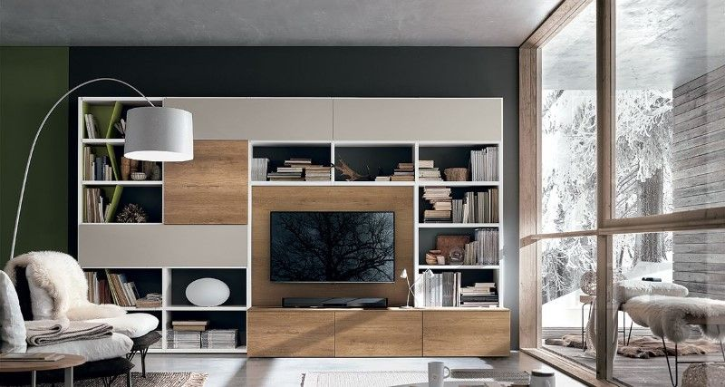 meuble tv bibliotheque design s jour collection meuble. Black Bedroom Furniture Sets. Home Design Ideas