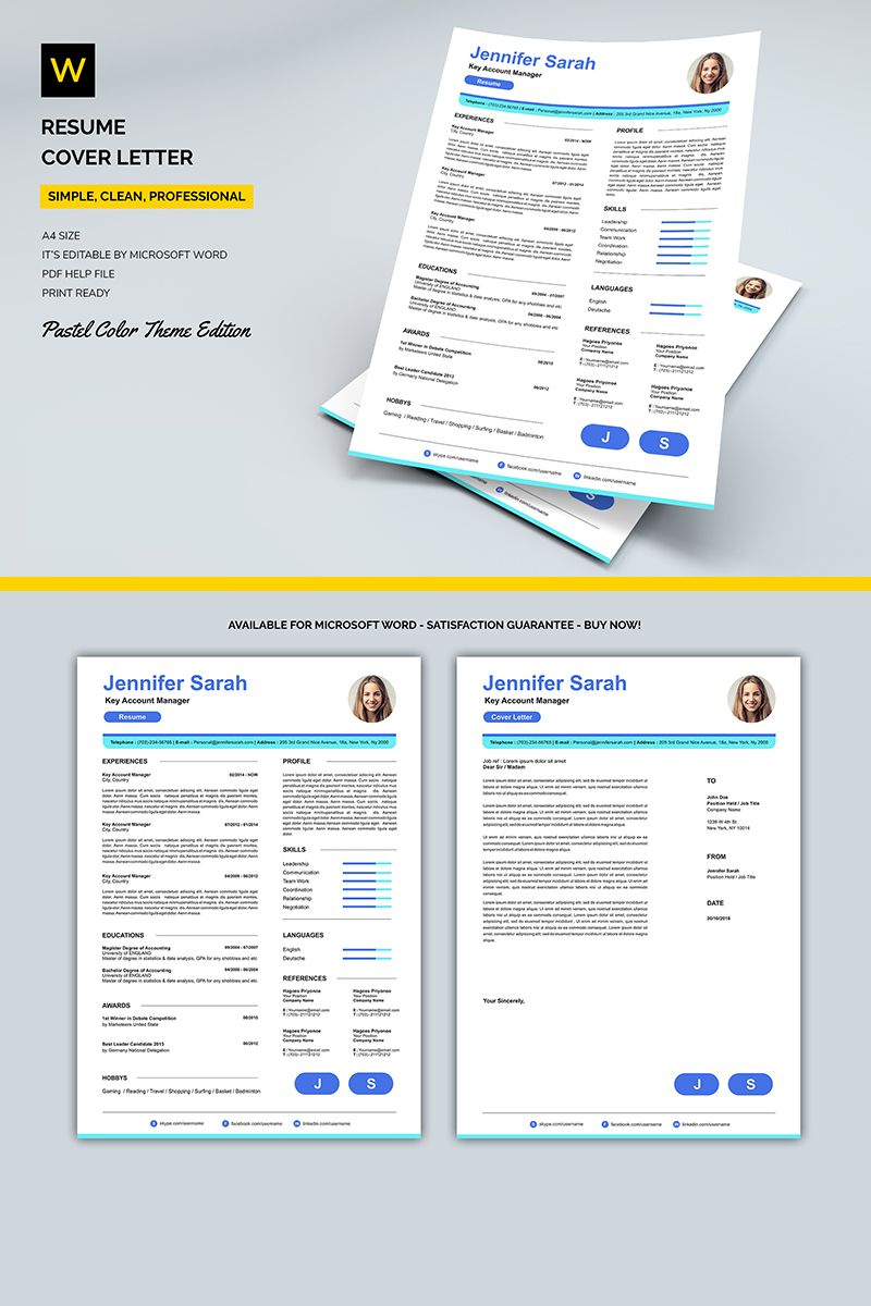 Sapphire Resume Template | Abstract 3d Art | Resume, Resume design ...