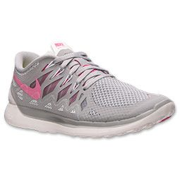 Women\u0027s Nike Free 5.0 2014 Running Shoes | Finish Line | Wolf Grey/Vivid  Pink/White