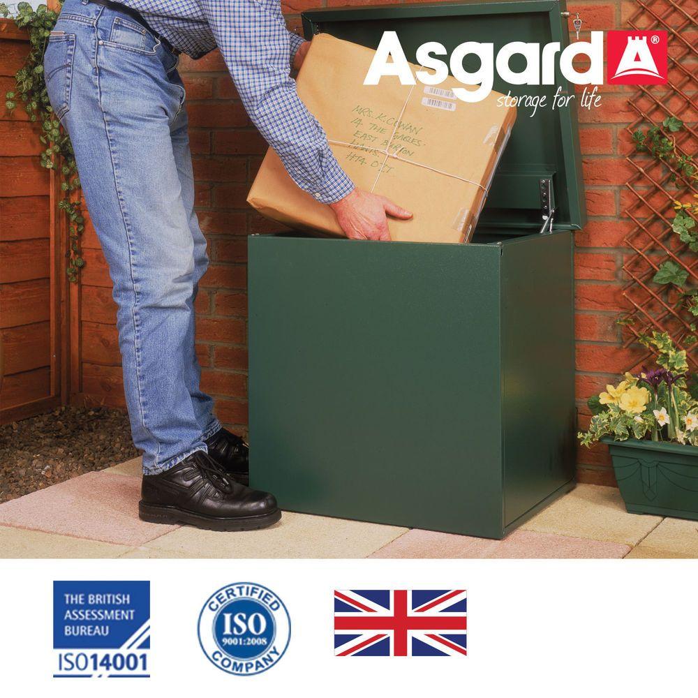 Delivery Box Parcel Post Metal Secure Drop In Garden