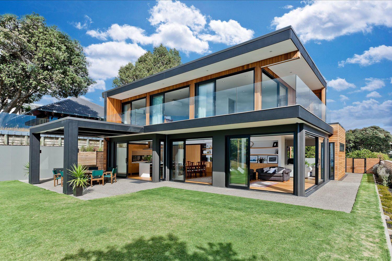 Dise o casa moderna dos piso madera metal armar pinterest casas casas campestres y casas loft - Diseno casa de madera ...
