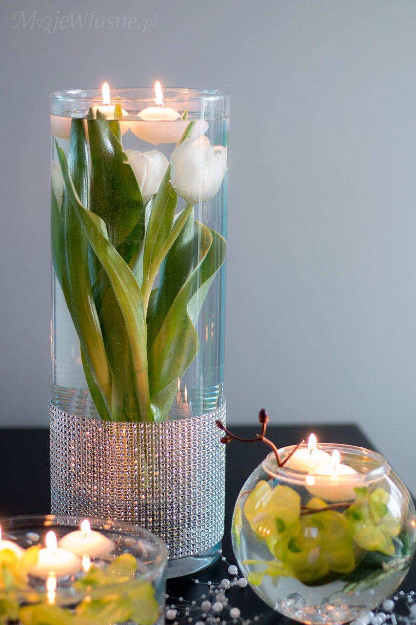 Tulipany W Wodzie Dekoracja Table Decorations Diy Deco Decor