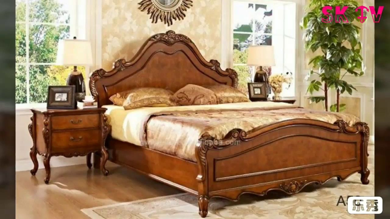 Latest Simple And Gorgeous Wooden Double Size Bed Design Bed