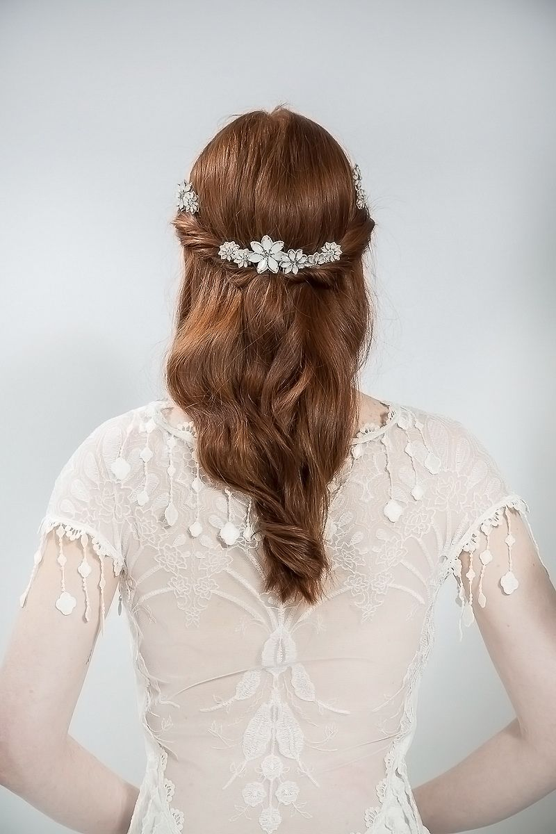 Floral hai slides by Emmy London - Elegant and Ethereal Wedding Hair Accessories | Love My Dress® UK Wedding Blog