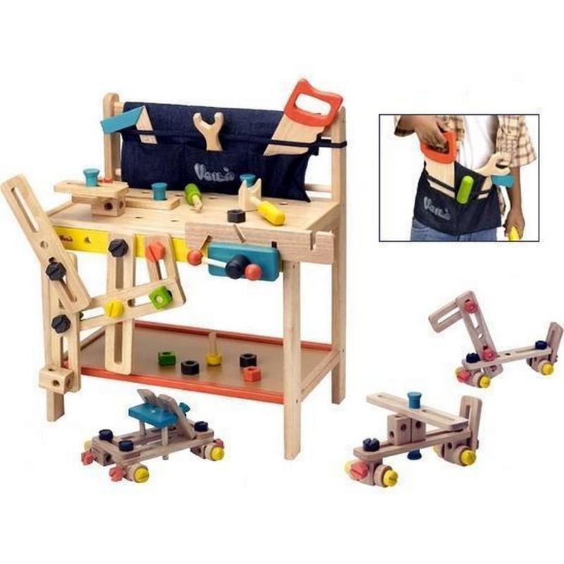 This Wooden Toy Workbench By Voila Is A Perfect Child S Version Of Dads Work Bench It Comes Equipped With Kinder Zimmer Kinderwerkbank Kinderzimmer