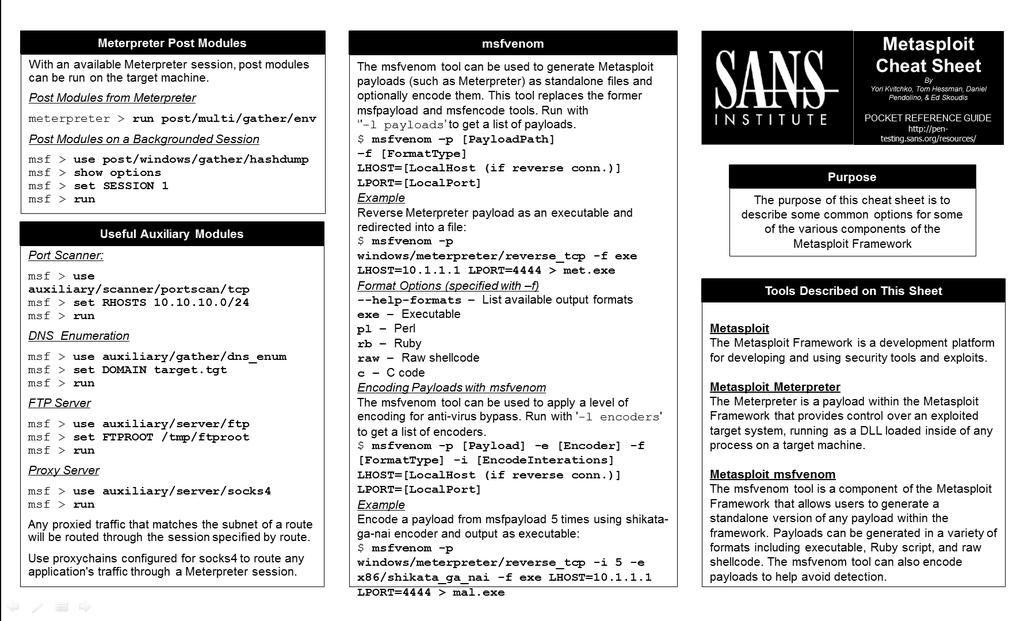 SANS Pen Test on Computer security