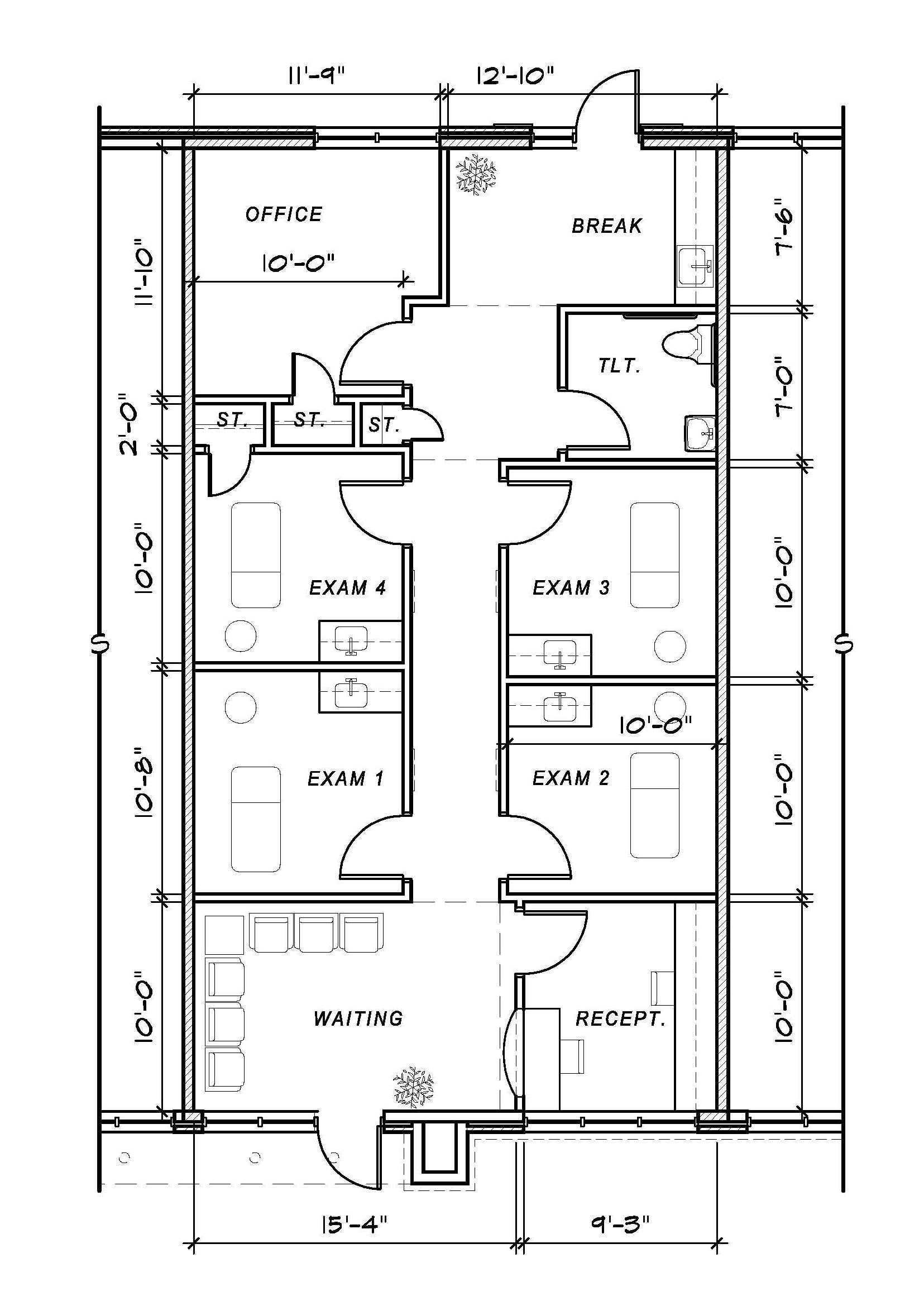 Medical office floor plan samples decorating inspiration for Office building plans and designs