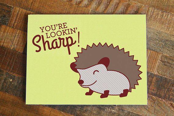 Cute Hedgehog Pun Card