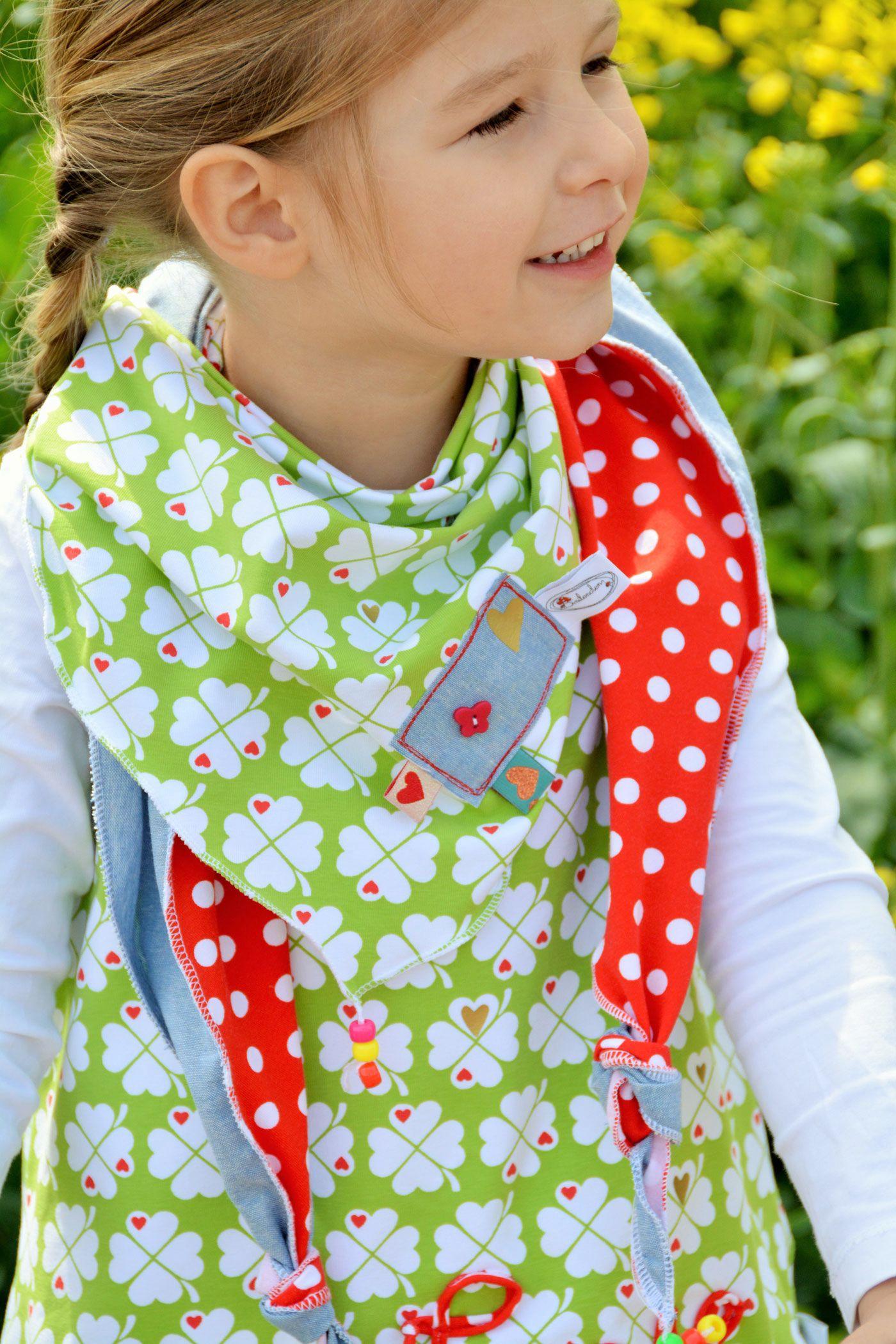 Jersey Kleeblatt / Grün   Schnittmuster kleid, Feefee und Kleeblatt