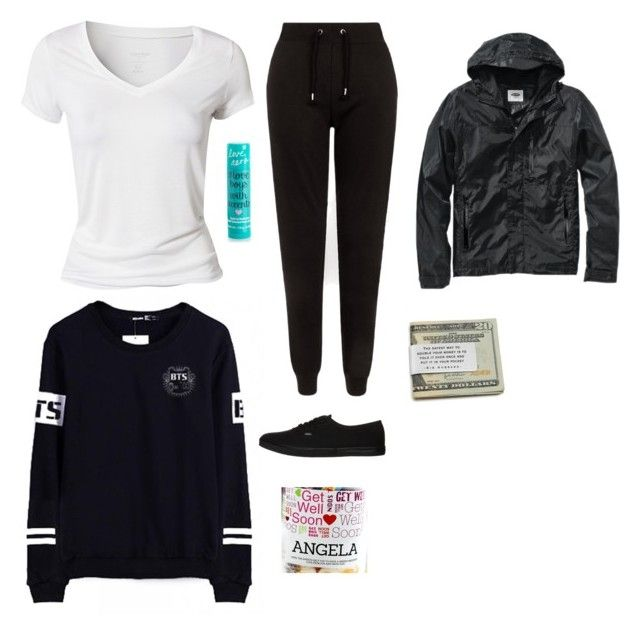 """Going with bae to visit bestie in hospital #CancerSucks"" by borninuk on Polyvore featuring Calvin Klein, Aéropostale, Vans, Old Navy, women's clothing, women's fashion, women, female, woman and misses"