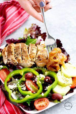 Greek Salad With Chicken Zoe S Copycat Greek Chicken