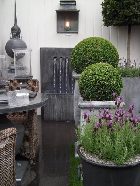potted plants and purple flowers, Modern Country Lady: The Hampton Court Flower Show Visit- part 1