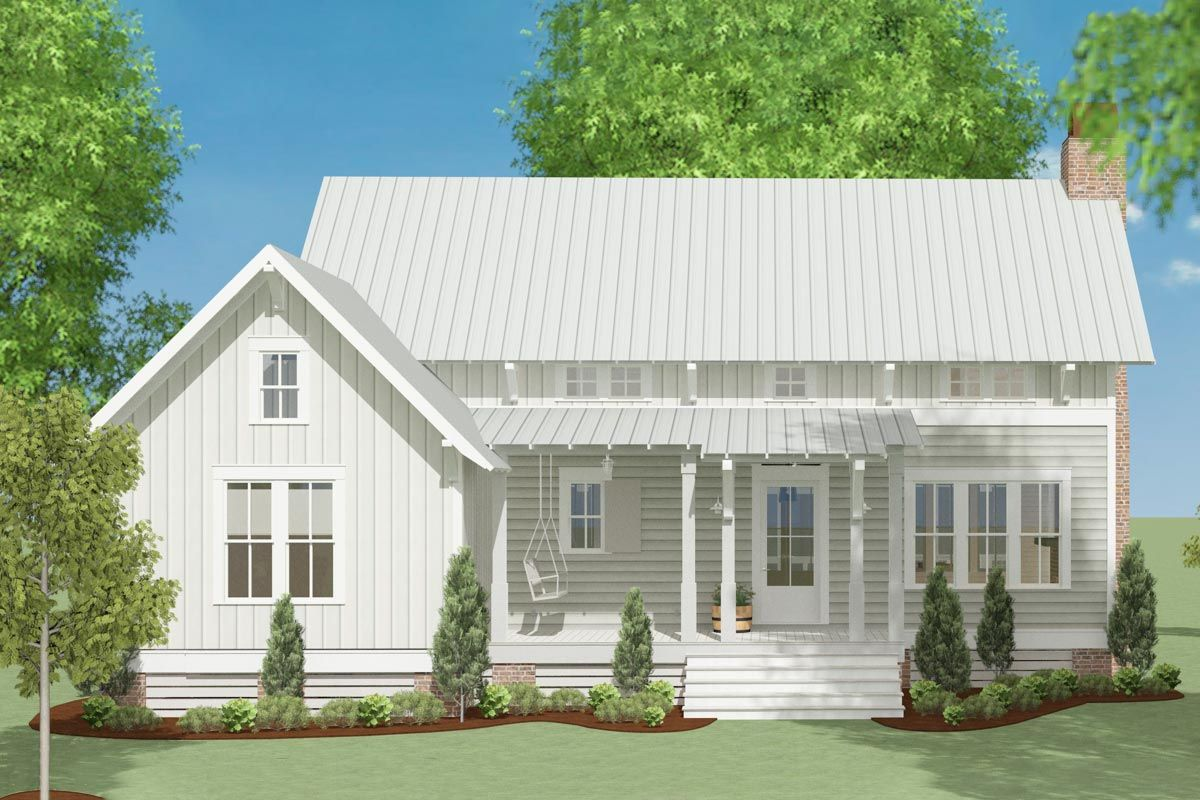 Plan 130024lls Country Escape With Upper Floor Added Cottage House Plans Farmhouse Plans House Plans One Story