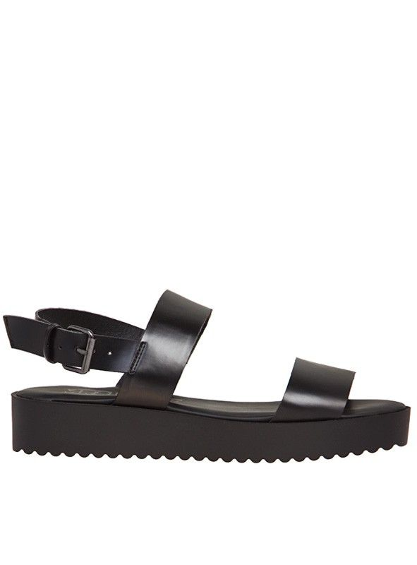 Boom Sandal - Boom Sandal by Mr & Mare Hot chunky sandals! Features thick  scalloped sole Leather look straps Black hardware Padded sole for extra…