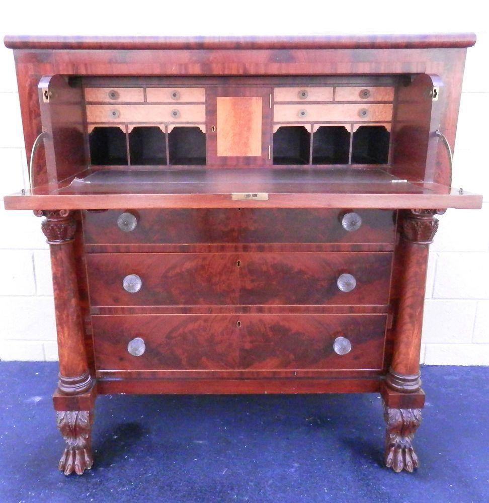 NY Empire Butlers Desk Maple Hairy paw Feet Circa 1830 Chest  Antique DeskAntique  FurnitureCabinet. American Prob  NY Empire Butlers Desk Maple Hairy paw Feet Circa