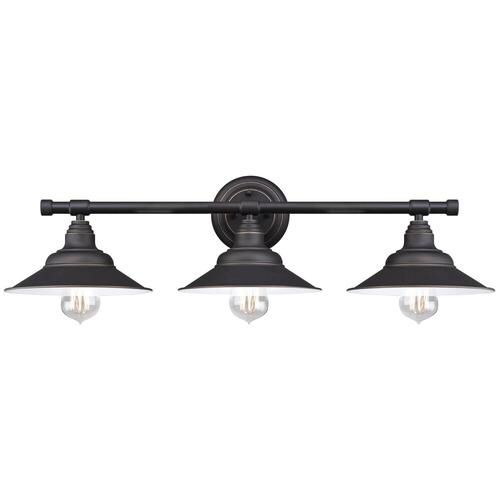 Westinghouse deansen oil rubbed bronze 3 light vanity light at menards · indoor wall