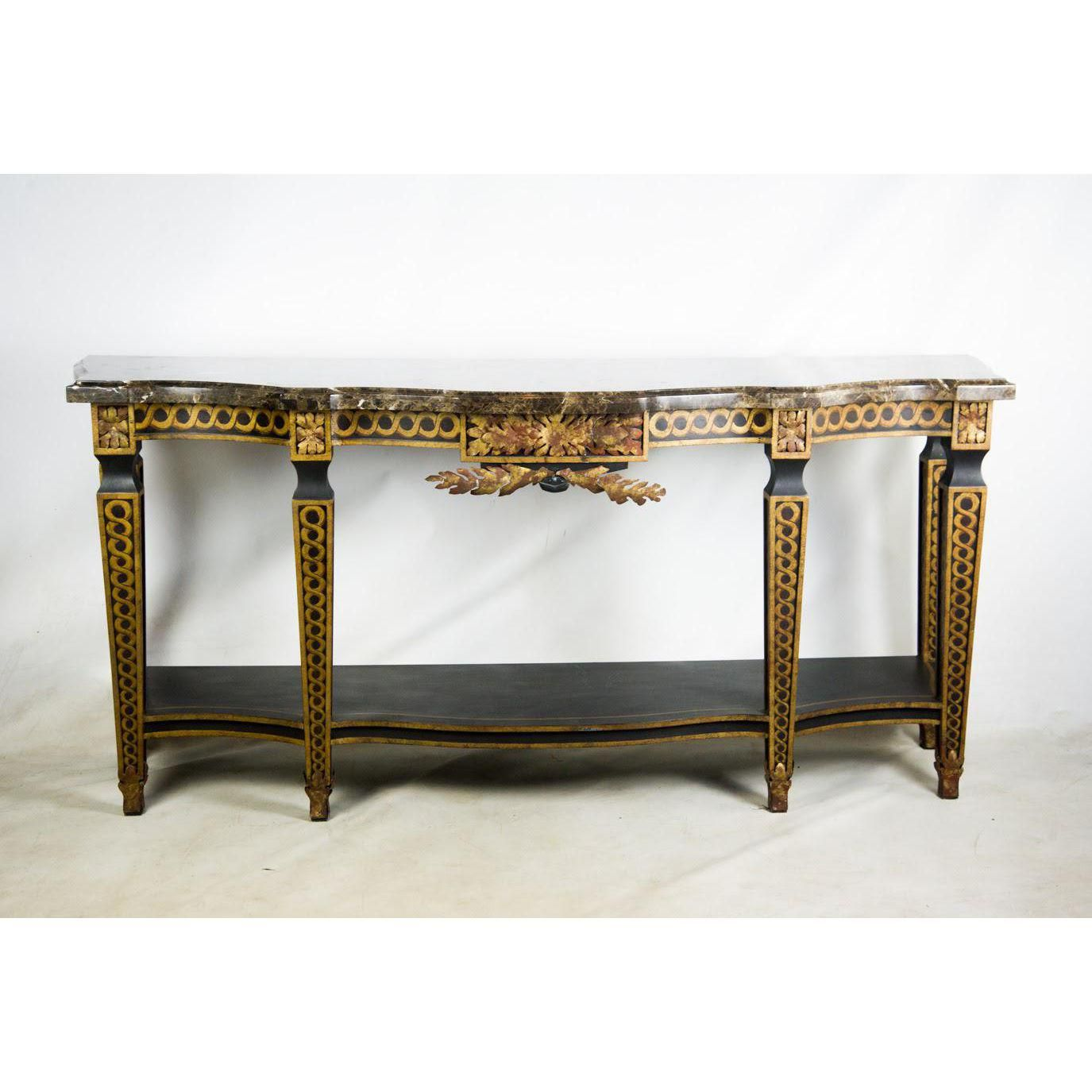 French Style Granite Top Console Table Console Table Console