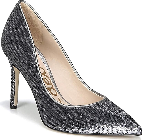 11768f91f31f Sam Edelman Women s Shoes in Pewter Sequin Fabric Color. A classic stiletto  adds leg-lengthening lift and timeless appeal to an elegant pointy-toe pump.