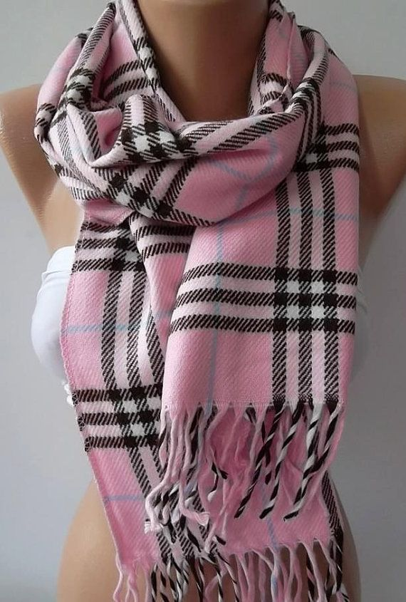 Gorgeous Scarf Elegant and Classy ....Pink and plaid | PINK & BLUE ...