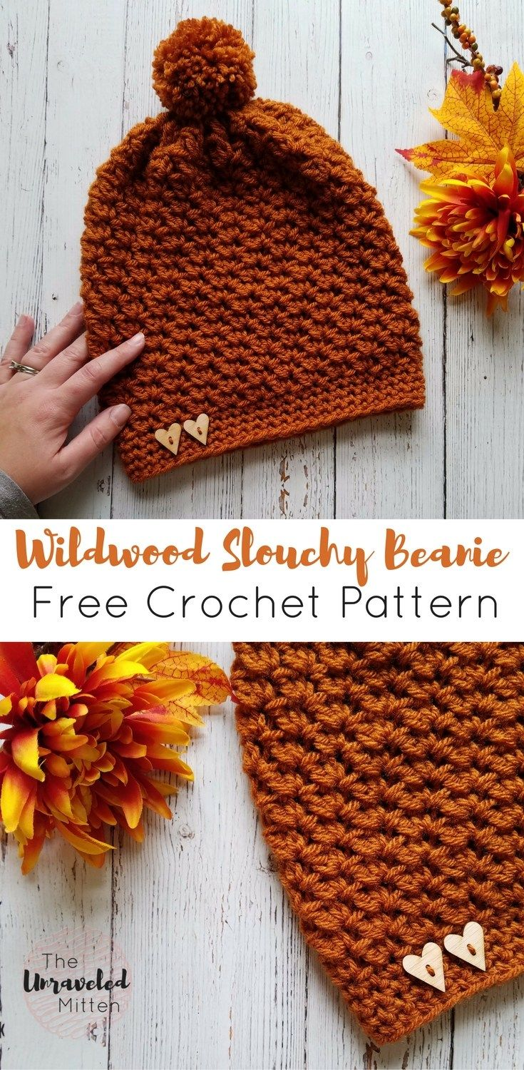 Wildwood Crochet Slouchy Beanie Pattern | Free crochet, Mittens and ...