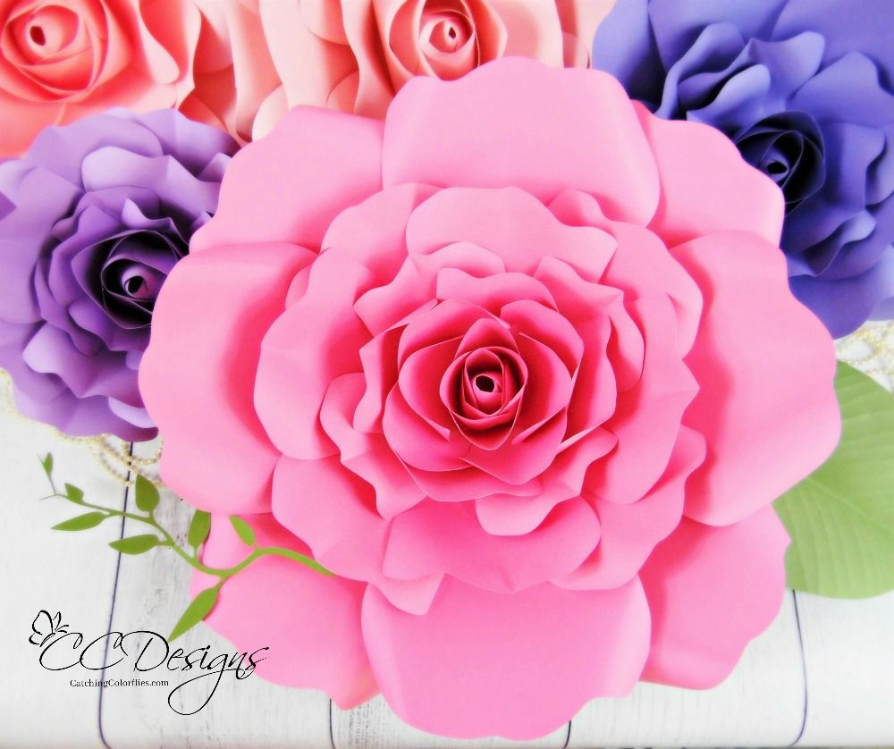 How To Make Large Paper Flowers Easy Diy Giant Paper Flower Paper
