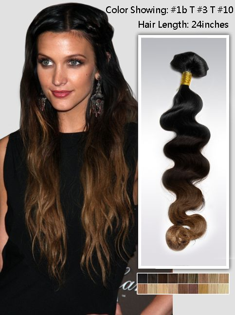 Wavy Three Tone Ombre Indian Remy Hair Extensions Usw151 Beauty