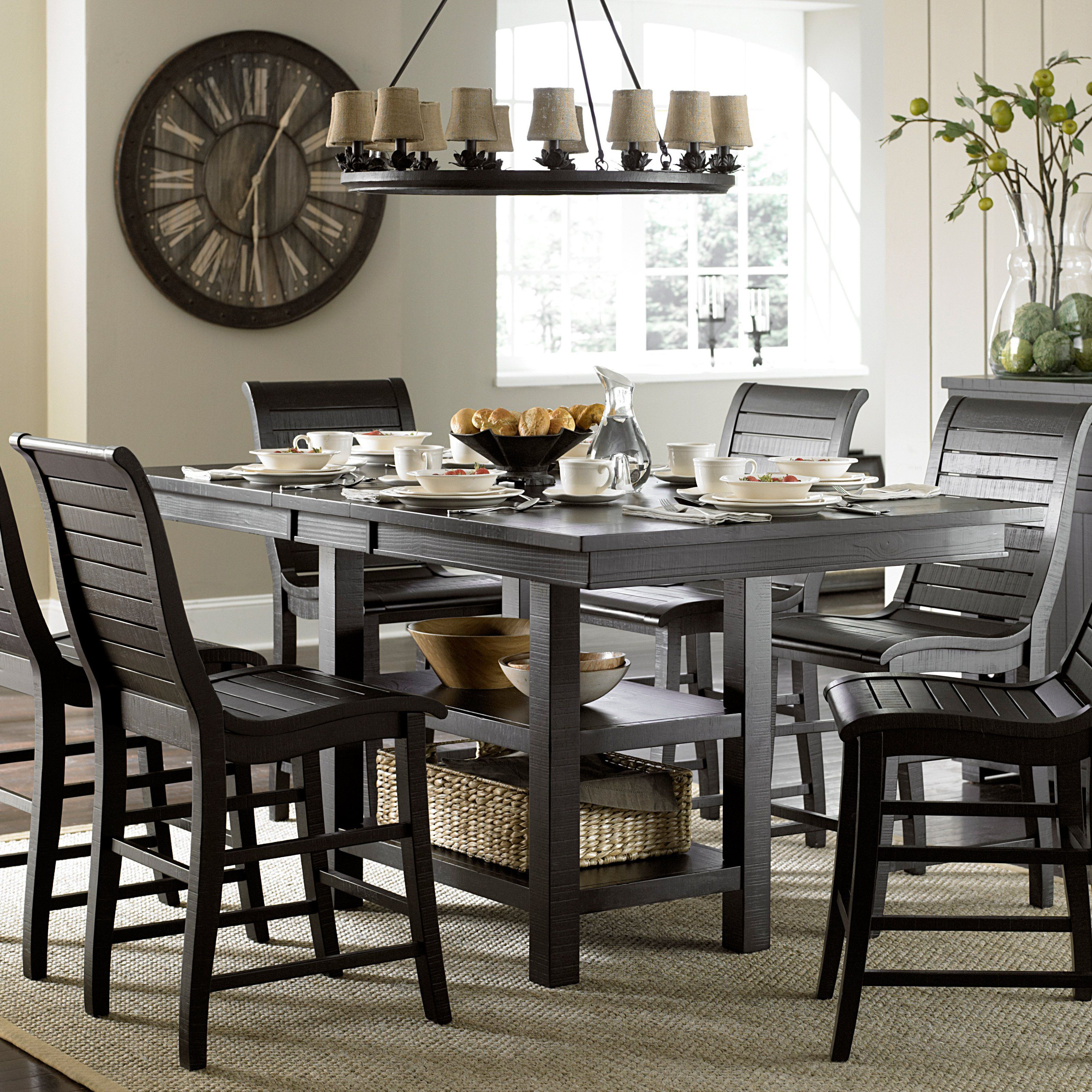 Progressive Furniture Willow Rectangular Counter Height Dining Table    P808 12B/12T