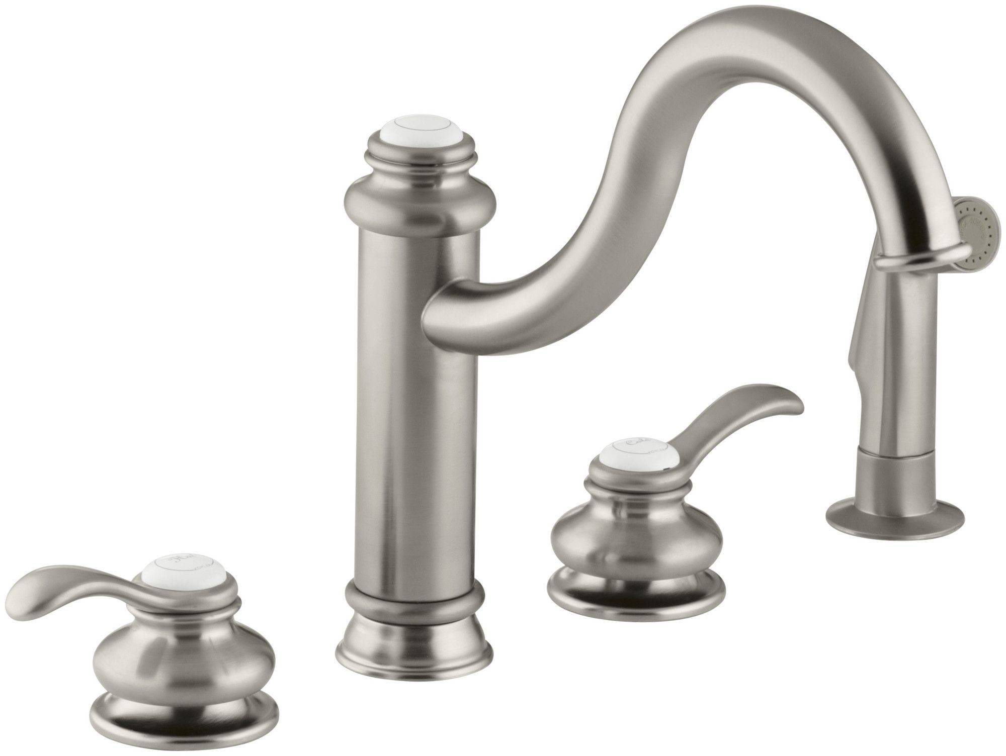 Fairfax 4 Hole Kitchen Sink Faucet With 9 3 8 Spout