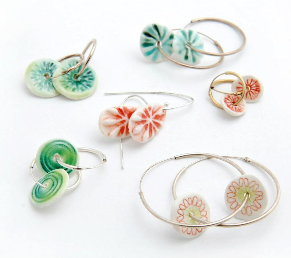 silver porcelain earrings | ceramic jewelry | pinterest