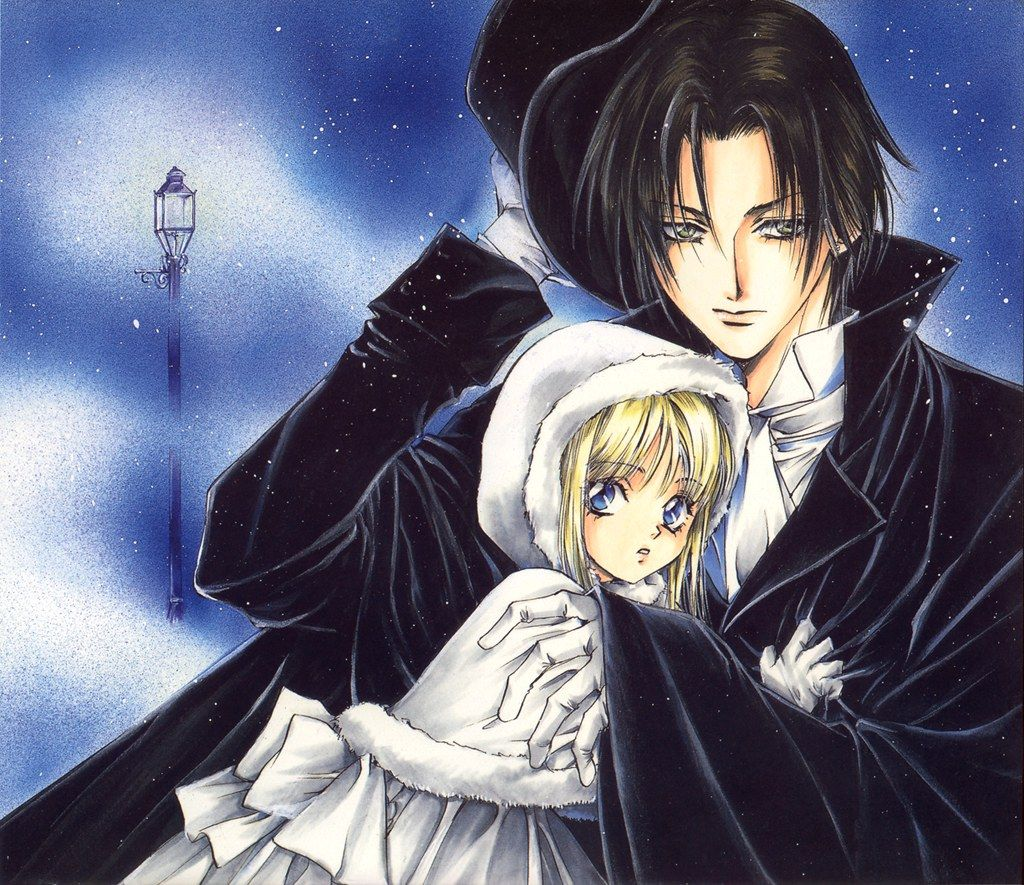 Count Cain/God Child by Kaori Yuki. I used to adore her manga and art so much. Pictured here is Cain and his sister Merryweather. I feel like many anime and manga series today are influenced by her art style and stories.