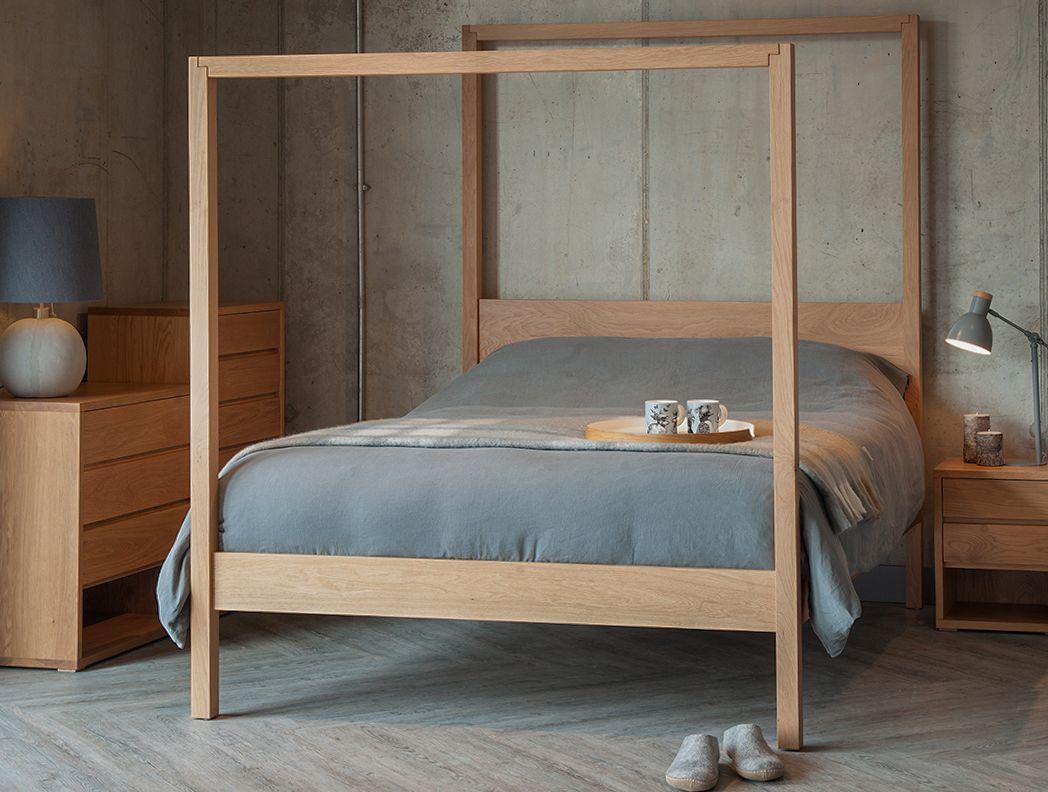 Oasis Four Poster Bed Solid oak bedroom furniture