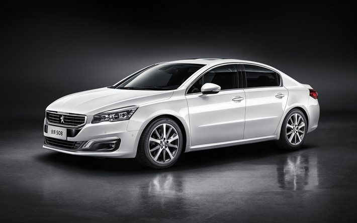 Peugeot 508, 2016, white Peugeot, sedan, new cars, Peugeot | Cars ...